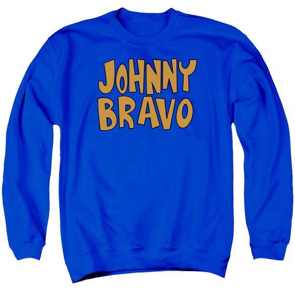 Johnny Bravo Jb Logo Adult Crewneck Sweatshirt Royal