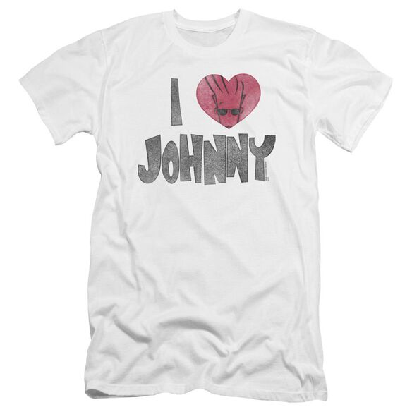 Johnny Bravo I Heart Johnny Premuim Canvas Adult Slim Fit
