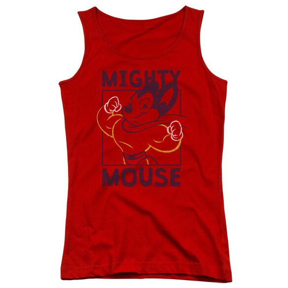Mighy Mouse Break The Box Juniors Tank Top
