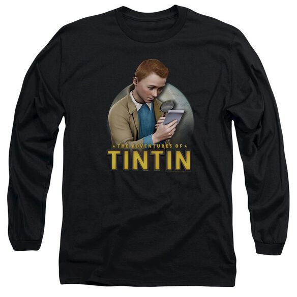 Tintin Looking For Answers Long Sleeve Adult T-Shirt