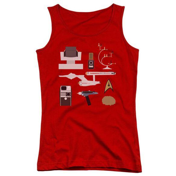 Star Trek Tos Gift Set Juniors Tank Top