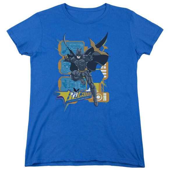 Dark Knight Batarang Tech Short Sleeve Womens Tee Royal Blue T-Shirt