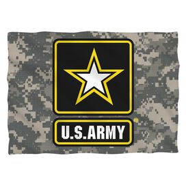 Army Patch Pillow Case White
