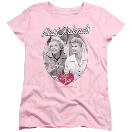 I LOVE LUCY BEST FRIENDS - S/S WOMENS TEE - PINK T-Shirt