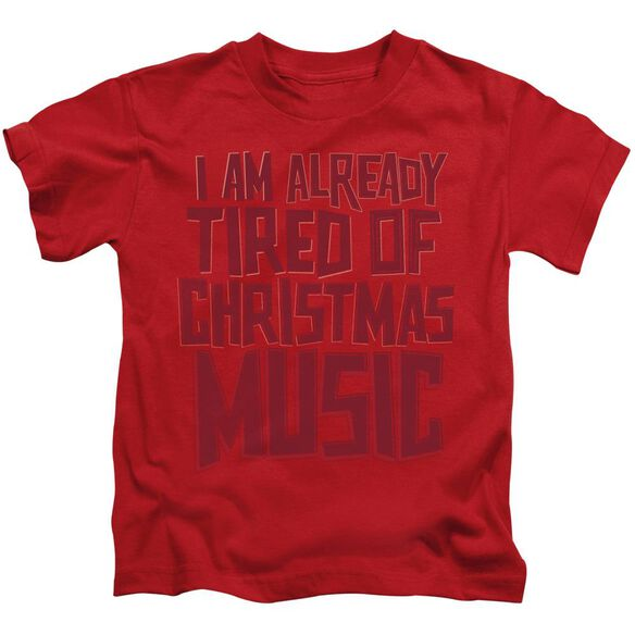 Tired Tunes Short Sleeve Juvenile Red T-Shirt