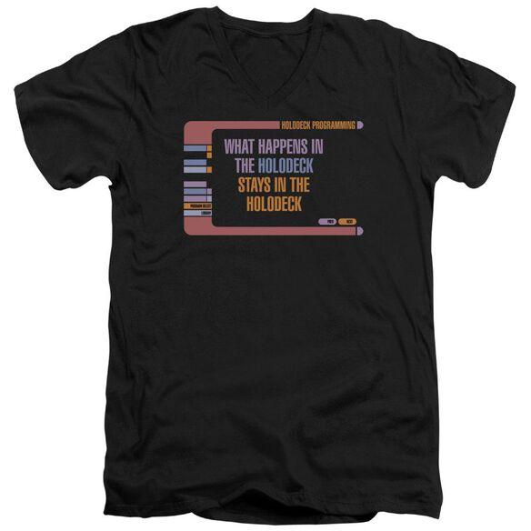 Star Trek Holodeck Secrets Short Sleeve Adult V Neck T-Shirt