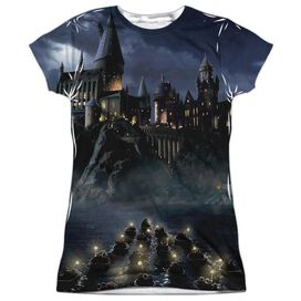 Harry Potter Hogwarts Short Sleeve Junior Poly Crew T-Shirt
