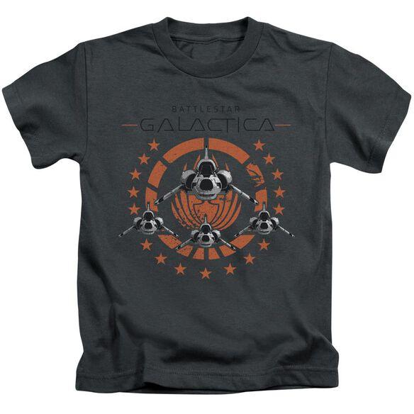 Bsg Squadron Short Sleeve Juvenile Charcoal T-Shirt