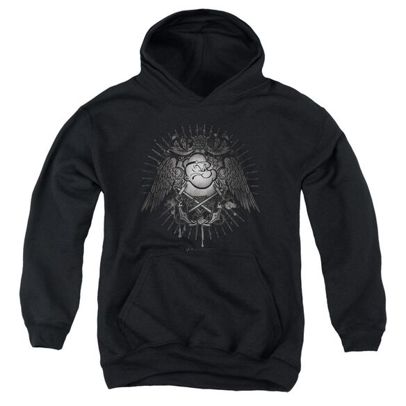 Popeye Sailor Heraldry Youth Pull Over Hoodie
