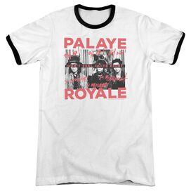 Palaye Royale Oh No Adult Ringer White Black