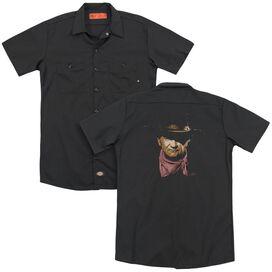 John Wayne Splatter(Back Print) Adult Work Shirt