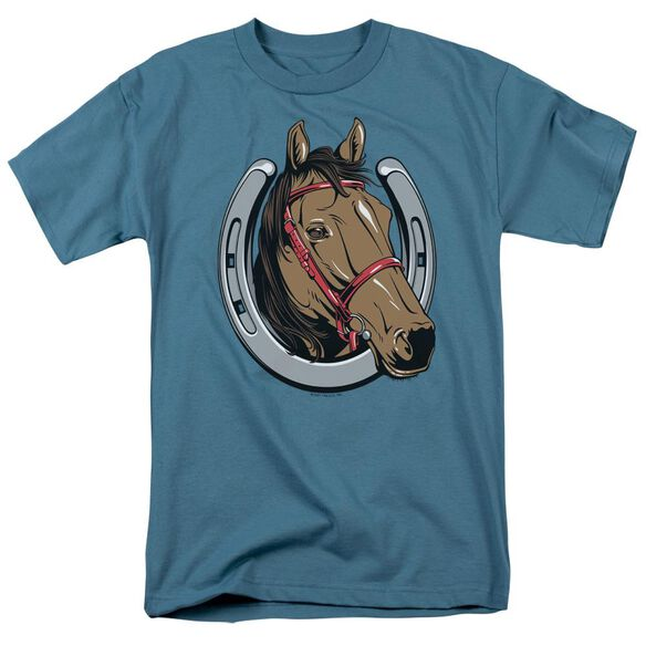 Lucky Horse Short Sleeve Adult Slate T-Shirt