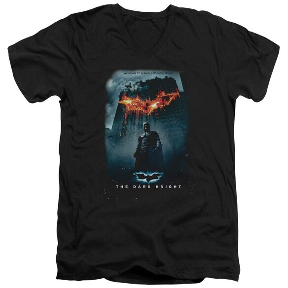Dark Knight Without Rules Poster Short Sleeve Adult V Neck T-Shirt