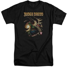 Judge Dredd Blast Away Short Sleeve Adult Tall T-Shirt