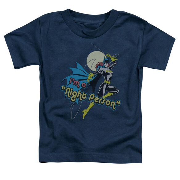Dc Night Person Short Sleeve Toddler Tee Navy Lg T-Shirt