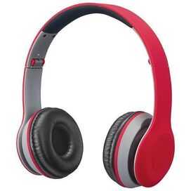 iLive IAHB38 Bluetooth Audio Wireless Headphones (Red)