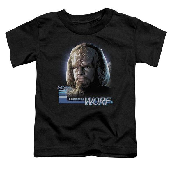 Star Trek Tng Worf Short Sleeve Toddler Tee Black Sm T-Shirt