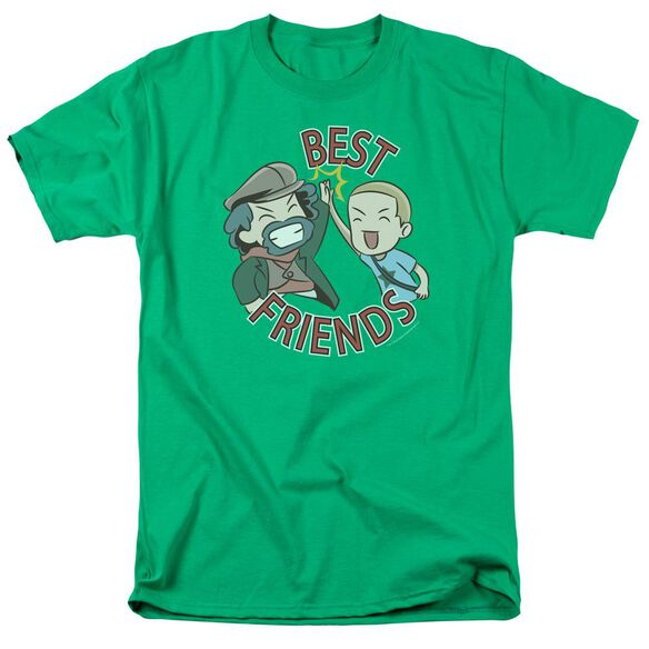 Valiantbest Friends Emoji Short Sleeve Adult Kelly Green T-Shirt