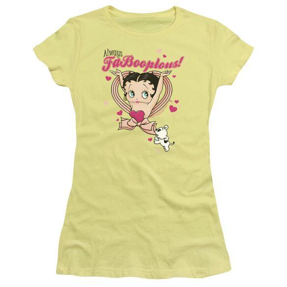 Betty Boop Fabooplous! Short Sleeve Junior Sheer T-Shirt