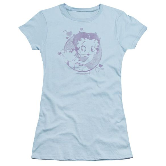 Betty Boop Perfect Kiss Short Sleeve Junior Sheer Light T-Shirt