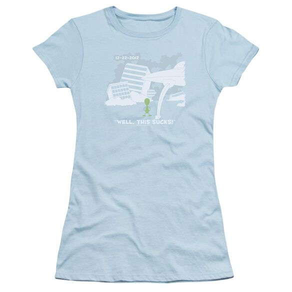 Late To The Party Short Sleeve Junior Sheer Light T-Shirt
