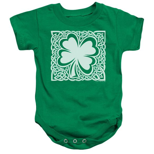 Celtic Clover Infant Snapsuit Kelly Green
