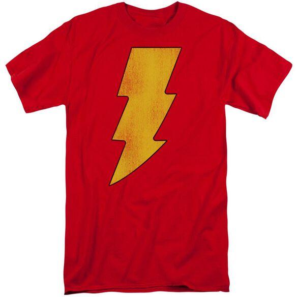 Dc Shazam Logo Distressed Short Sleeve Adult Tall T-Shirt