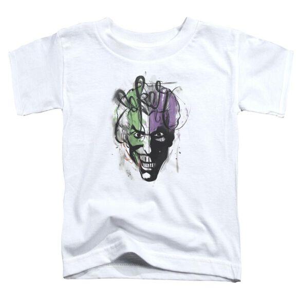 Batman Joker Airbrush Short Sleeve Toddler Tee White T-Shirt