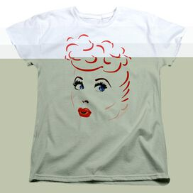 I LOVE LUCY LINES FACE - S/S WOMENS TEE - WHITE T-Shirt
