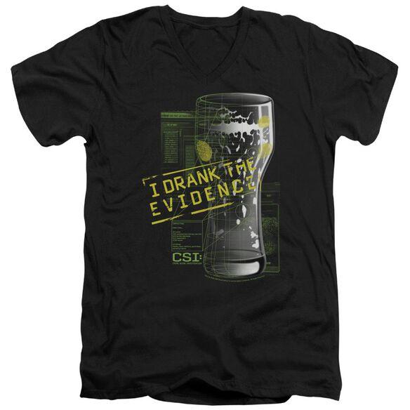 CSI I DRANK THE EVIDENCE - S/S ADULT V-NECK T-Shirt
