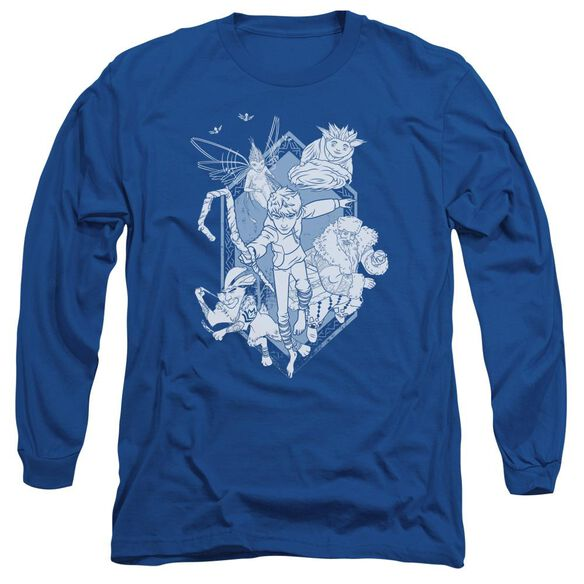 Rise Of The Guardians Coming For You Long Sleeve Adult Royal T-Shirt