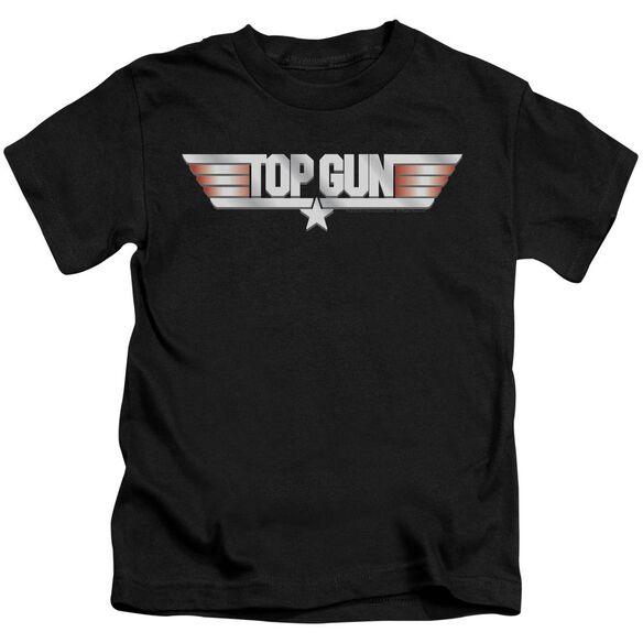 Top Gun Logo Short Sleeve Juvenile Black Md T-Shirt