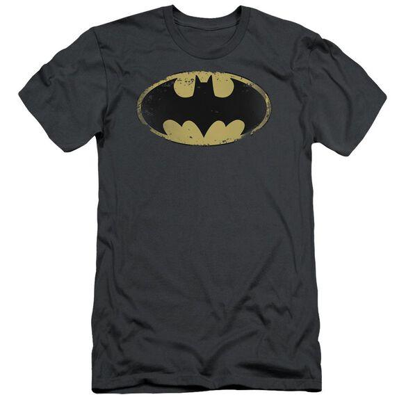 Batman Distressed Shield Short Sleeve Adult T-Shirt