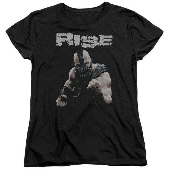 Dark Knight Rises Rise Short Sleeve Womens Tee Black T-Shirt