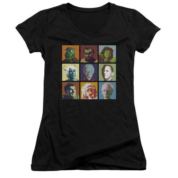 Star Trek Alien Squares Junior V Neck T-Shirt