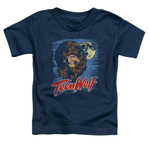 Teen Wolf Moon Wolf Short Sleeve Toddler Tee Navy T-Shirt