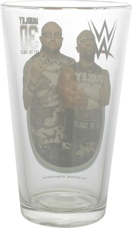 WWE Dudley Duo 3D Get The Tables Pint Glass