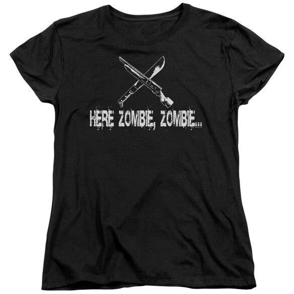 Here Zombie Zombie Short Sleeve Womens Tee T-Shirt