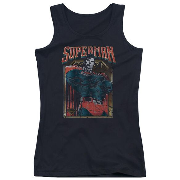 Superman Head Bang Juniors Tank Top