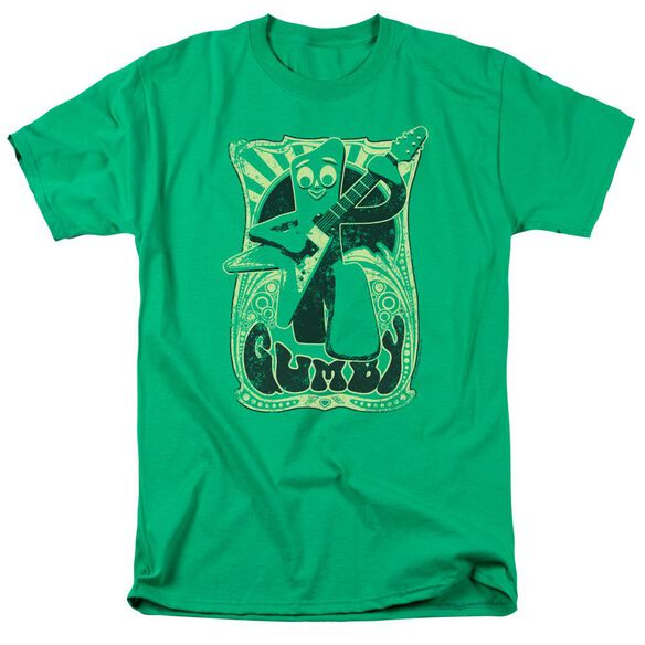 GUMBY VINTAGE ROCK POSTER - S/S ADULT 18/1 - KELLY GREEN T-Shirt