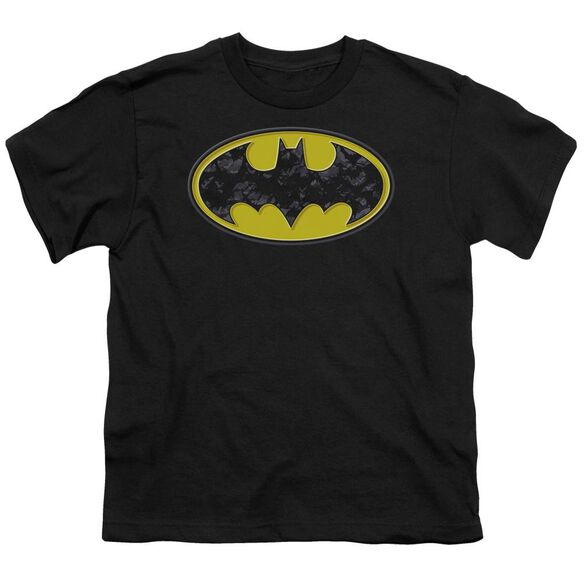 Batman Bats In Logo Short Sleeve Youth T-Shirt