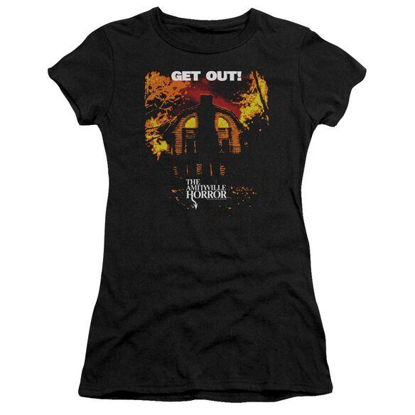 Amityville Horror Get Out Short Sleeve Junior Sheer T-Shirt