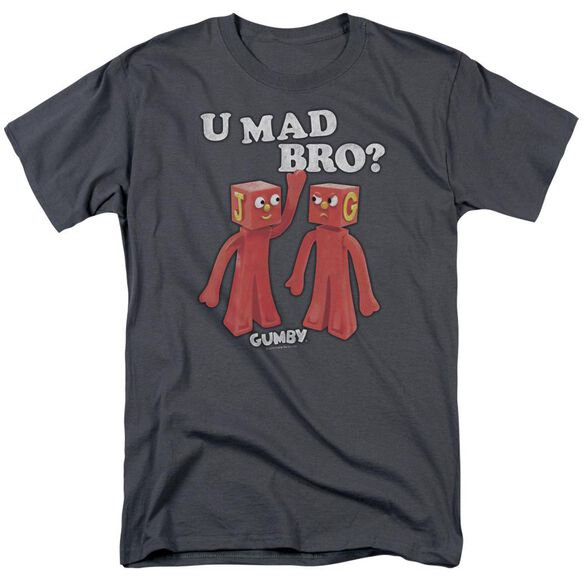 GUMBY U MAD BRO - S/S ADULT 18/1 - CHARCOAL T-Shirt