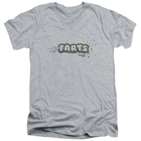Farts Candy Finger Logo Short Sleeve Adult V Neck Athletic T-Shirt