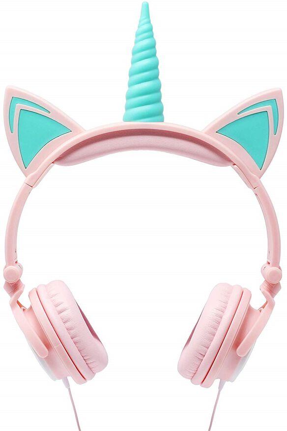 Gabba Goods Unicorn LED Headphones [White/Pink]