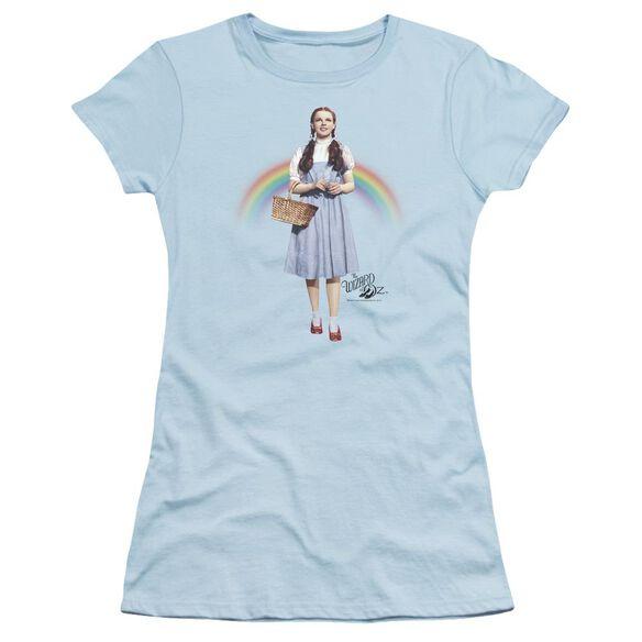 Wizard Of Oz Over The Rainbow Short Sleeve Junior Sheer Light T-Shirt