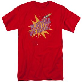 Astro Pop Blast Off Short Sleeve Adult Tall T-Shirt