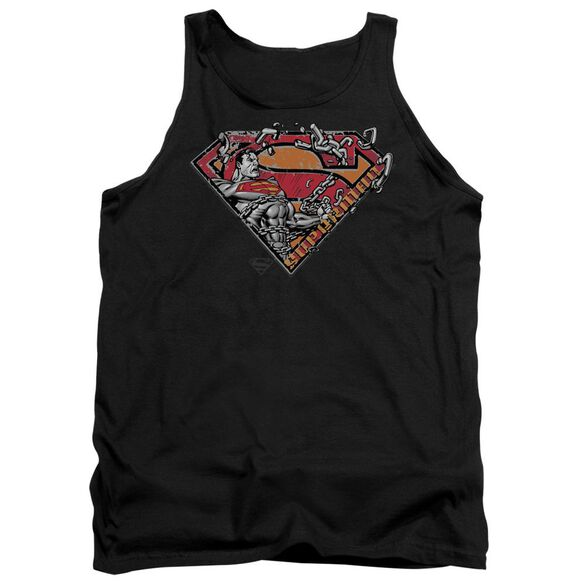 Superman Breaking Chain Logo Adult Tank
