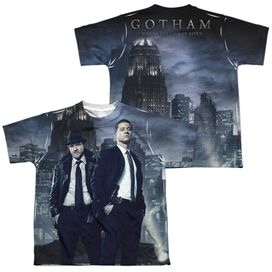 Gotham City Nights (Front Back Print) Short Sleeve Youth Poly Crew T-Shirt