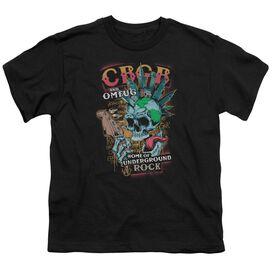 Cbgb City Mowhawk Short Sleeve Youth T-Shirt